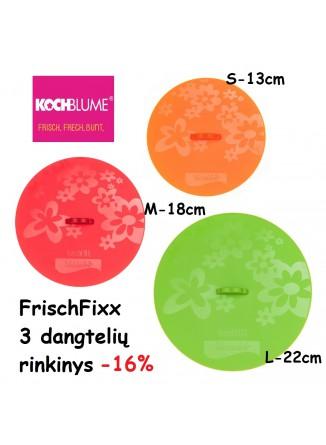 Dangčių FRISCHFIXX rinkinys 3 vnt, Ø 13-18-22 cm, KOCHBLUME®, Puodai.LT rekomenduoja,