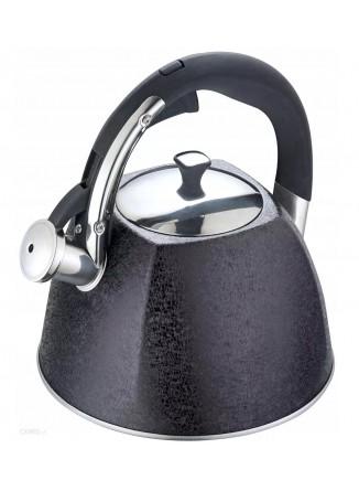 Virdulys su švilpuku 3,0 L,  juodas CRACK design, KLAUSBERG, ORION (Čekija).