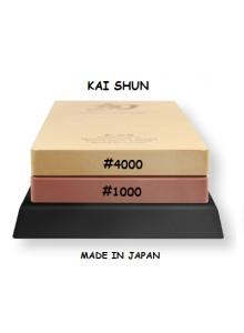 Galandimo akmuo 1000/4000, dvipusis, su padėkliuku, SHUN, KAI (Japonija)
