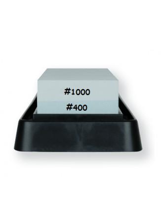 Galandimo akmuo 400/1000, dvipusis su vonele, WHETSTONE, KAI (Japonija)