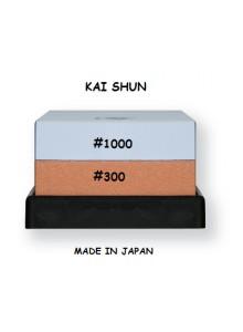 Galandimo akmuo 300/1000, dvipusis, su padėkliuku, SHUN, KAI (Japonija)