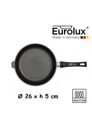 Liejinio keptuvė universali Ø 26x5 cm, indukcinė, nuimama rankena, EUROLUX® (Vokietija)