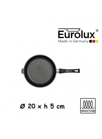 Liejinio keptuvė universali Ø 20x5 cm, indukcinė, nuimama rankena, EUROLUX® (Vokietija)