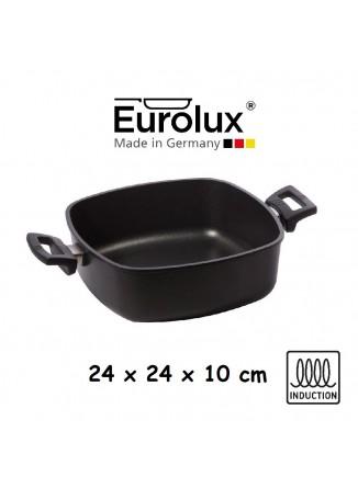 Liejinio troškintuvas 24x24x10 cm, indukcinis, su dviem rankenėlėm, be dangčio, EUROLUX® (Vokietija)
