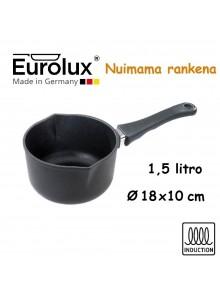 Liejinio prikaistuvas su snapeliais 1,5L, Ø 18x10 cm, indukcinis, nuimama rankena, EUROLUX® (Vokietija)