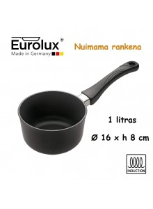 Liejinio prikaistuvas pienui 1,0L, Ø 16x8 cm, indukcinis, nuimama rankena, EUROLUX® (Vokietija)