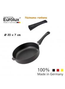 Liejinio keptuvė gili - troškintuvas Ø 20x7 cm, indukcinė, nuimama rankena, EUROLUX® (Vokietija)