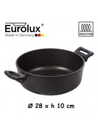 Liejinio troškintuvas Ø 28x10 cm, indukcinis, apvalus, EUROLUX® (Vokietija)