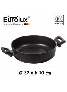 Liejinio troškintuvas Ø 32x10 cm, indukcinis, apvalus, EUROLUX® (Vokietija)