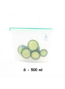 Maišelis silikoninis 500 ml, daugkartinis, 'ziplock', YUGGEN (UK)