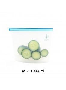 Maišelis silikoninis 1000 ml, daugkartinis, 'ziplock', YUGGEN™ (UK)