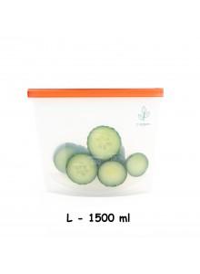Maišelis silikoninis 1500 ml, daugkartinis, 'ziplock', YUGGEN™ (UK)