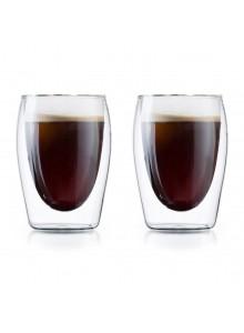 Termo stiklinės puodeliai kavai 175 ml. 2 vnt. BORAL