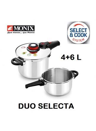 Greitpuodžių 4+6 L rinkinys DUO SELECTA, 18/10 plienas, MONIX® (Ispanija)