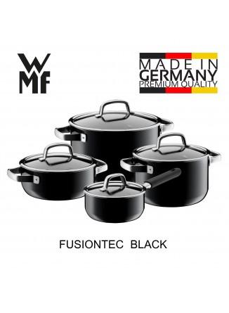 Puodų rinkinys 4 vnt. su padažine, juoda spalva, FUSIONTEC, WMF (Vokietija)