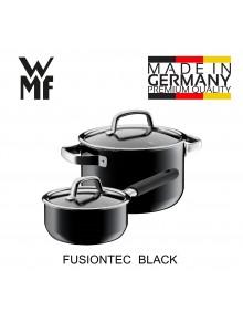 Puodų rinkinys 2 vnt. su padažine, juoda spalva, FUSIONTEC, WMF (Vokietija)