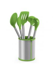 Virtuvės įrankių 5 vnt. rinkinys su stovu, PRIOR, BRA® (Ispanija)