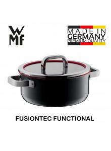 Puodas troškintuvas  4,4 L, Ø 24 cm, su funkciniu dangčiu, juoda spalva, FUSIONTEC FUNCTIONAL, WMF (Vokietija)