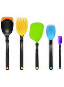 Virtuvės įrankių 5 vnt. rinkinys SET OF THE BEST, spalvotas, DREAMFARM (Australija)