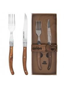 Įrankiai steikui - picai, peilis ir šakutė, ORION (Čekija)