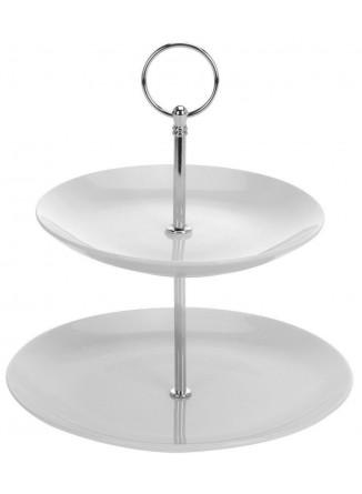 Etažerė / 2 aukštų serviravimo lėkštė, porcelianas, ORION (Čekija)