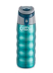 Termopuodelis 350 ml SPORTS FLASK, su rankenėle, žaliai mėlynas, PIONEER® (UK)