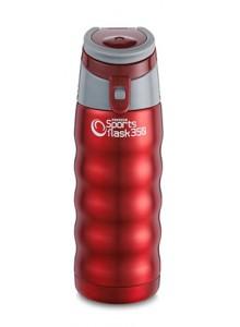 Termopuodelis 350 ml SPORTS FLASK, su rankenėle, raudonas, PIONEER® (UK)