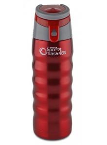Termopuodelis 480 ml SPORTS FLASK, su rankenėle, raudonas, PIONEER® (UK)
