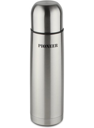 Termosas skysčiams 0,35L, su automatiniu kamščiu, 18/10 plienas, PIONEER® (UK)