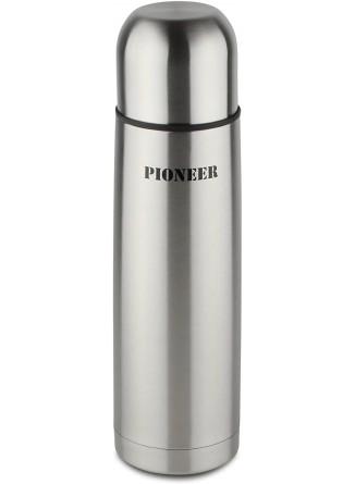 Termosas skysčiams 0,5L, su automatiniu kamščiu, 18/10 plienas, PIONEER® (UK)