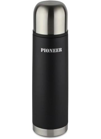 Termosas skysčiams 0,5 L, su automatiniu kamščiu, juodas, PIONEER® (UK)