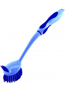 Šepetys indams plauti 32 cm, mėlynas, ilga rankena, KOCHBLUME® (Vokietija)