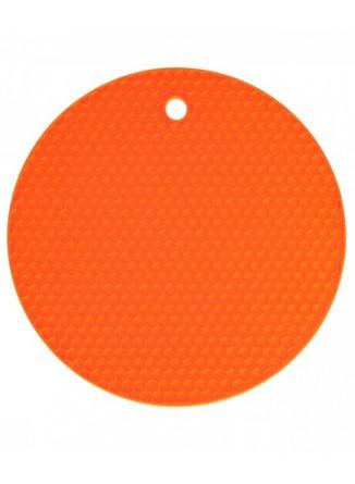 Padėkliukas silikoninis Ø 18 cm, apvalus, oranžinis, KOCHBLUME® (Vokietija)