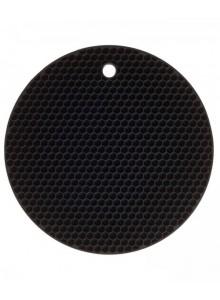 Padėkliukas silikoninis Ø 18 cm, apvalus, juodas, KOCHBLUME® (Vokietija)