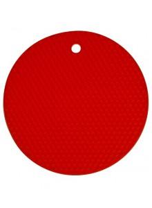 Padėkliukas silikoninis Ø 18 cm, apvalus, raudonas, KOCHBLUME® (Vokietija)