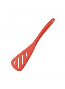 Mentelė trikampė MIDI 24 cm perforuota silikoninė, raudona, KOCHBLUME® (Vokietija)