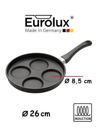 Liejinio keptuvė kiaušiniams ir blynams Ø 26 cm, indukcinė, EUROLUX® (Vokietija)