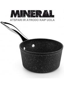 Padažinė - prikaistuvas Ø 16 cm, 1,1 L, indukcinis, su plienine rankena, MINERAL, MONIX® (Ispanija)