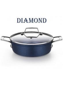 Puodas žemas su dangčiu Ø 24 cm, 3,0 L, indukcinis, DIAMOND, MONIX® (Ispanija)