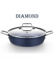 Puodas žemas su dangčiu Ø 28 cm, 4,0 L, indukcinis, DIAMOND, MONIX® (Ispanija)