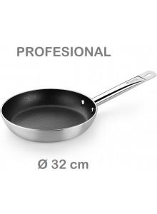 Keptuvė PROFESIONAL Ø 32 cm, indukcinė, su ilga rankena, MONIX® (Ispanija)