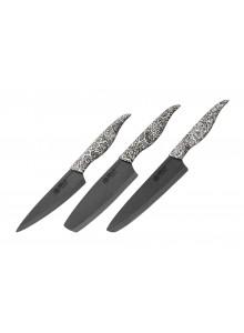 Keraminių peilių rinkinys 3vnt. INCA, juodas, SAMURA® International