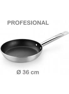 Keptuvė PROFESIONAL Ø 36 cm, indukcinė, su ilga rankena, MONIX® (Ispanija)
