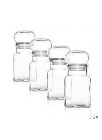 Stikliniai indeliai 4x 150 ml. prieskoniams, ORION (Čekija)