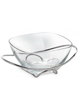 Mediterraneo stiklinė vaza su stovu