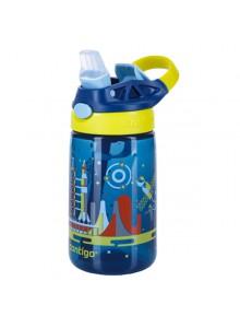 Vaikiška gertuvė 420 ml, mėlyna su kosmosu, GIZMO FLIP, CONTIGO (JAV)