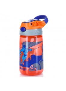 Vaikiška gertuvė 420 ml, oranžinė Superhero, GIZMO FLIP, CONTIGO (JAV)