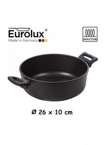 Liejinio troškintuvas Ø 26x10 cm, indukcinis, apvalus, EUROLUX® (Vokietija)