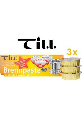 Degi etanolio pasta / žele fondiu ir marmitams 3 x 80 g, TILL® (Vokietija)