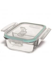 Kepimo indas - dėžutė maistui 2 skyrių su dangteliu 1,0 L, 20x15x7 cm, stiklas, ORION (Čekija)